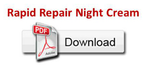Rapid Repair Night Cream PDF